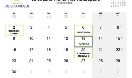 Calendario curso 2020/2021
